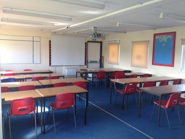 Modular Temporary Classroom ~ Single classroom building used modular